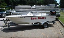 Super clean 2005 Boston Whaler 150 Sport complete with Mercury 60hp Bigfoot four stroke and galvanized trailer with swivel tongue. This boat just came in on trade and is in awesome condition. It hasn't even been washed in the pics!!! What you see in the