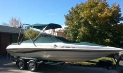 We are selling our boat in order to buy a larger boat. We are the 2nd owner of this boat and have owned it since 2001. It has been a great family boat. The boat has 1159 hours on it. We just had the motor rebuilt and it has less than 10 hours on the