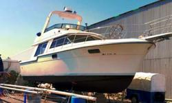 Make way aboard the largest 42 foot Sportfisherman you will ever set your eyes upon. Her spacious aft-deck, immense accommodation, and giant super-structure make her the perfect yacht for entertaining. Powered by twin 454 Mercruiser big block engines, she
