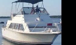 1980 Carver mariner $16,500? Forward bedroom with lots of storage? Full bathroom with separate Shower an granite sink? Microwave,Refrigerator,Cooktop? Cold A/C? Swim platform? Twin crusaders 350's? new impellers? New led lights? New