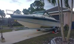 I have a Chaparral boat 1987 198 C XL with cabin, 19Ft, Mercruser 165HP engine with outdrive alpha one, big 4 Cyl in line , 3.7L, solid fiber glass vessel, great and strong magic trailer. The problem with the boat is the upper unit is rusty and the u-