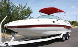 kjghfdcgvhbjkml,;;This boat is outfitted with a 375 Horsepower Volvo Penta 8.1L Gi motor with a Volvo Penta Duoprop Drive Featuring a Duoprop set-up with twin stainless steel props. This boat shows only 132 hours of total use. This boat has been through a