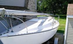 Price reduced!!! 22' Chrysler sailboat. The boat has been cleaned and restored, but our circumstances have changed and we no longer have a good tow vehicle or time to sail. Our loss is your gain! Newly restored sailboat. All new running rigging (rope),