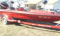,,,,,,,,,19 FT 1996 COMANCHE RANGER BASS BOATWITH A EFI 175 MERCURY MOTOR PUSHING IT.THIS SITTING ON A MATCHING CUSTOM COMANCHE RANGER TRAIL TRAILER.IT IS A FIBERGLASS BOAT AND ALL IS MATCHING IN A BEAUTIFULHOURS 80DEEP METAL FLAKE DARK RED! THIS BOAT HAS