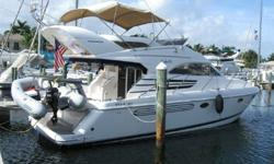 WELCOME TO THE BEST USED FLYBRIDGE BOAT MONEY CAN BUYFor detailed info: http://www.miamifairline.com/1998 with twin Volvo 370hp diesels.Kept and maintained like new. Complete 110V conversion.Many recent additions and immaculate condition.One of the best