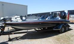 2013 RANGER Z-522 DC, MERCURY 250 PRO VERADO 4-STROKE, RANGER TRAIL TANDEM AXLE TRAILER W/ ROAD ARMOR, SPARE, SWING TONGUE, 2 8 FOOT BLADE POWERPOLES, ATLAS HYDROLLIC JACKPLATE, MINN KOTA FORTREX 101 US2, 4 BANK CHARGER, LOWRANCE HDS 9-TOUCH IN DASH,
