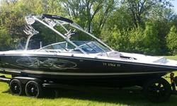 2005 MasterCraft X-45 Master Craft X45 Super low hours just 229 at time of ad may flex a little. Sitting on a like New all Black CUSTOM 2012 BoatMate tandem trailer costing $5500 just a little over two years ago. Equipped with SWIVEL TOUNGE, Five Mayhem