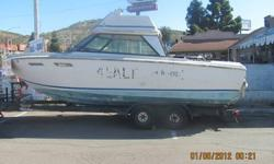 FREE SEA RAY, 24FT BOAT...GOOD FOR PROJECT. HAS NO MOTORS AND NO TRAILER. CAN DELIVER IF NOT FAR FROM CHULA VISTA. CALL PETER 619-253-5061. BOAT IS LOCATED ON FAIVRE ST. 1 BLOCK SOUTH OF MAIN ST. 1/2 BLOCK FROM JACQUA ST. DRIVE 5 SOUTH TO MAIN, DUE EAST