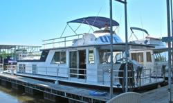 1975 Gibson houseboat 50'Twin gasoline 7.4 liter(454 ci) engines350 hp each/700hp totalFly bridge with bimini cover, dual controls (up an& down)2 heads. One with tub & shower.Full kitchen, wih stove, microwave, fridge, and breakfast bar Master stateroom
