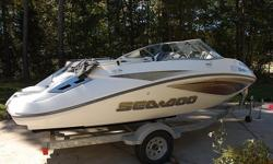 COMES WITH A KARAVAN TRAILER. BOAT IS IN EXCELLENT CONDITION, EVERYTHING WORKS AS IT SHOULD, RUNS GREAT, NO ISSUES, ONLY 10 HOURS ON BOAT. THE ONLY THING IS A 3 INCH (LINE) TEAR ON PASSENGER SEAT (BARELY NOTICEABLE).Send your phone and I will call you.