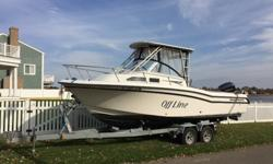 1999 Grady White 248 Voyager 2nd Owner. Purchased at Boat's Inc. in Waterford, CT.Vessel is in good shape for her age. Boat has been in storage for over 5 years. The boat was serviced at the end of the summer. Low hours on motors. No hour meter on boat or