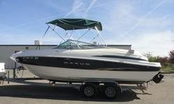 .....,,,,,,,,THIS IS A GREAT 2001 2300SR MAXUM OPEN BOW BOAT. IT IS A GREAT BOAT THAT OFFERS AN EXCELLENT SIZE TO HANDLE LARGER LAKES AND OCEAN CRUISING YET IT IS STILL A TRAILERABLE BOAT! THIS POWER PLANT IS A 5.7L V8 MERCRUISER I/O AND RUNS