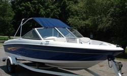 2007 Bayliner 175 for sale,135 hp motor! Boat is in good condition and has always been kept in garage. Trailer is also included and in great condition. Regular maintenance has been done on the boat and there have been no issues. Only serious inquiries