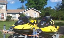 ```/Run beautifully, the last two of a former 6 jetski stable. Kids got older, got married and lacked time for them. I bought a boat for them and the grandkids so we can be on the water that way. These were for my wife and I and rarely allowed to be