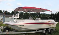 2005 HURRICANE FUNDECK 201 I/O Volvo GXI 4.3 (225hp), low hours 143, length 20ft: If you have a large family or like to take friends along to fish/cruise/water sports, this is the boat for you! The boat will accommodate 10 with plenty of room for