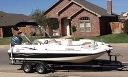 I am selling my luxury boat, The hurricane 2009 GS-201 Fundeck, 10 seater, it has a powerful 4 Stroke Yamaha with only 150 hours, equipped with a great new marine stereo system with bluetooth , a sink, water tank and hose, 2 deck fishing seats, a fishing