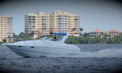 Immaculately 1996 Chris Craft 30 CROWN, Only fresh water. Tankage:Fuel: 100Water: 25Holding: 25Accommodations:Sleeps 4 with a convertible dinette and aft cabin. Head with shower, wet bar, fridge, microwave, stove, sink, water heater, pressure
