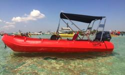 FOR SALE 14.2' Whaly Ocean Sport RIB Inflatable Boat WH435. FULLY RIGID ROTOMOLDED BODY. NOT FABRIC!!!COLOR: RED OR GRAYThe 14.2 Ocean Sport Whaly 435 is an incredibly versatile, robust, double walled RIB boat manufactured from high grade recyclable