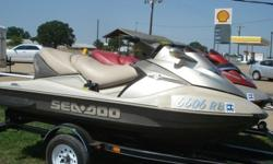 TWO Jet skis a 2005 SEA DOO BRP RXT 4-TEC SUPERCHARGED IC JET SKI; 11' IN LENGHT, 215HP, CLOSED LOOP COOLING SYSTEM, HYDRO-TURF FLOOR.This jet ski has some scratches,and scuffs, runs great an very FAST!!! The other jet ski is a 2003 BOMBARDIER SEA DOO GTX