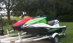 Kawasaki Ultra 250x and 2006 Honda Aquatrax F12X.Both are in excellent condition and just serviced. The Honda has 50 hours and the Kawasaki has about 25 hours. Both PWC's are on a single trailer as shown in the pictures. They have current registrations as