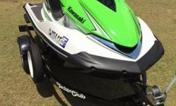 ...;;2008 Kawasaki Ultra 250X Jetski and Trailer (only 17 hours)KAWASAKI TEAM COLORS!!!!!!Basically this machine is brand new with 17 Hours use time. Comes with a trailer that is also new. ( trailer has a mounted spare tire). Just installed a brand new