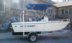 IF YOU ARE LOOKING FOR A CLEAN ONE OWNER 19' CENTER CONSOLE WITH A SWEET 115 YAMAHA V 4 SALT WATER SERIES ENGINE YOU HAVE JUST FOUND YOUR BOAT. THIS 19' KEY WEST HAS A 60 GAL FULE CELL , WITCH IS FULL THIS IS VERY CLEAN UNIT ALL INSTRUMENTS AND GAUGES AT