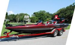 Very Sharp looking! Extremely well built Bass Boat - Top of the Line. The boat is completely solid inside and out! All Compartment lids are in Excellent shape, Clean. Plenty of dry storage space. Carpet is in great shape for the year ? driver/passenger