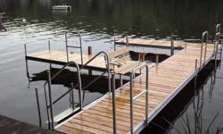 We have the best deal in the Northeast!!***************** Floating Dock Sections, Patio Docks, Floating Work Platforms,Ramps,Handrails,Boat BumpersNew 4`x10`Aluminum Dock Section !!!Top Quality !!! and Fabrication !!Look at our price !!4`x10`sections =