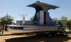 The trailer is freshly painted and looks really good. The trailer has an integrated step up ladder for easy access to the boat when parked. This is a wonderful feature.Finally, this boat has NEVER seen saltwater, but, would make a fantastic salt-water