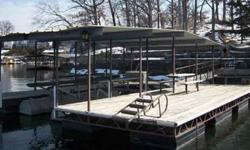 Like New, one Slip, Covered Dock, ten X 28 Slip For Sale by Dock Brokers - Lake Ozark, Missouri Exterior Color