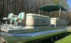pre-rigged for trolling motors and has a tilt switch to pick up the big motor when you are ready to begin trolling for the lunkers in the lake. Trolling motor batteries for the 24 volt system are spread between two bow dry boxes to maintain weight and