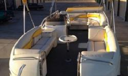 Add a rear swim platform and a big V-8 and you can pull a slalom skier while your passengers are totally comfortable. How does it handle rough inland lake chop? Pontoon and Deckboat Magazine says: ?It planes so cleanly and quickly, the chop just served to