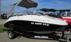 This 2012 18 foot Seadoo Challenger 180 Jet boat just came in and is in awesome condition top to bottom. It has been completely inspected and the motor compression tested. We also performed a complete service including oil and filter change, tune up and a