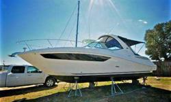 "Well-maintained and well-optioned ""like new"" 2014 Sea Ray Sundancer 330 with 2015+ styling and warranty!Approximately 240 hours on the engines and 80 on the generator. The engines and generator are still under warranty! The engines and associated"