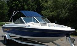 This boat is like new with only 150 hours on the Mercury 135 hp inboard out board motor. It is 17 1/2' open bow Bayliner that was never really used but well taken care of. It come complete with stereo, trailer and much much more. Don't miss out on this