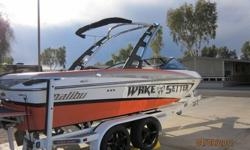 The boat is in excellent condition. It has 129 hours on it, is always garaged, has never touched the sand and only used in fresh water. This boat was custom built for a Malibu Sales Manager. He lost his job soon after receiving the boat and had to sell