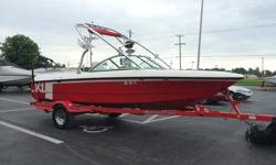 his 2006 Mastercraft X-1 just rolled into our lot. This boat is loaded up and ready to wakeboard! The Indmar 310HP engine has no problem pulling you and all your buddies around the lake. 11 buddies to be exact. This motor only has a low 362 hours on it!
