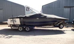 2006 Mastercraft X-45 A nose for fun. You can't deny the X-45 is a fiberglass house of style. From the SuperFly bow to the diamond transom at the rear, the X-45 delivers on all fronts. Featuring hard, contoured lines amidst a bevy of billet, we've shaped