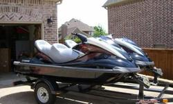 This beautiful matching set of Yamaha FX HO Waverunners comes with covers and a dual trailer. The seats have been replaced with Cruiser type for comfort and style. Accessories include anchors, rope, side booms, and many others. Both machines have around
