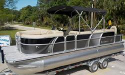 SHE IS RATED FOR UP TO 12 PEOPLE OR 2418 Pounds with gear / 135 HP MAX, 28 GALLON FUEL CELL. ****THE POWER PLANT - CHECK OUT THE SUZUKI 4-STROKE 115 HP POWER HOUSE ON THE BACK OF THIS BEAUTY. SHE WILL PUSH THIS BEAUTY JUST OVER 30 MPH AND IS SO QUIET AT