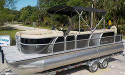 Misty Harbors pontoon boats have several standard features in an effort to allow you to enjoy the water... We have added several options to guarantee your time and money is well invested. These boats allow the opportunity to create memories with both