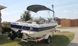DO NOT PASS ON THIS BOAT. Original owner. Very low fuel consumption. EXCELLENT CONDITION. ALWAYS KEPT INDOORS. ONLY USED IN LAKE AND RIVER WATER. NEVER SEEN SALTY WATERS!! 140HP engine with only 175 hours. Trailer in great condition with spare tire, power