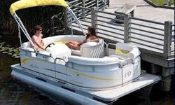 Americas best compact pontoon! You can take the stylish Avalon Eagle anywhere. The 7' wide body is easy to trailer, requires only small gas horsepower and is perfect for electric outboards. The plush feel and classy radius look will have you looking smart