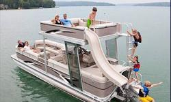 A WATER PARK ON THE WATER! Have the best of family fun every weekend with the all new Paradise Funship. Loaded with standard features to make a day on the water complete. Slide, swim, lounge, entertain, and even water-ski with the standard triple