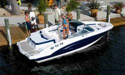 IMAGES ARE FACTORY BROCHURE PICTURES. THIS INVENTORY NUMBER FEATURES A 2011 MODEL YEAR FULL HULL COLOR VAPOR EDITION BLUE, DUNE COCKPIT UPHOLSTERY, DRIFTWOOD PACKAGE & SUNPAD WALKWAY CUSHION AND A 2011 VANGUARD VT2050BBR SWING TONGUE TRAILER WITH A SPARE