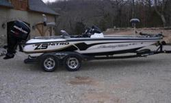 2008 Nitro Z9 in excelent condition- 250 mercury pro XS withwarrenty til 2/14/2011- 36 volt 109 lb thrust Tour Eddition trolling motor by MotorGuide- Tandem trailer with brakes and fiberglass fenders- 4 deep cycle batteries- stealth charging system with