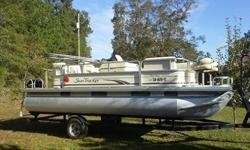 "Color-matched 11' bimini top with 2"" frame Wheel chair access and gates that open inward High-buoyancy all-welded oversized 26"" multichambered pontoons Mercury outboard power SpecificationsSun Tracker Party Barge 25 Regency Edition Specifications Length"
