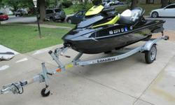 Black and Yellow. Purchased in 2012. This is not a toy! It is one of the fastest production Jet Skis on the market and will do 70 mph. It has a 1500cc, 4 stroke, 3 cylinder supercharged engine. It is a 3-seater and weighs about 834 lbs. In ?SPORT? mode,it