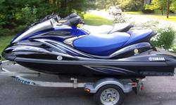 PAIR OF 2006 YAMAHA FXHO WAVERUNNER 4 STROKE 160 HP WITH 2005 TRITON LT WCII TRAILER INCLUDED. VERY VERY FAST! 3 SEATER. ONE IS BLUE AND BLACK AND THE OTHER IS YELLOW AND BLACK. BOTH WAVERUNNERS ARE IN EXCELLENT CONDITION. WELL MAINTAINED. USED IN FRESH