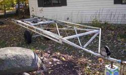 18 foot - crank up/down pontoon trailer New tires & wiring. buddy bearings are in excellent condition. $875.00 OBO (click to respond)Listing originally posted at http